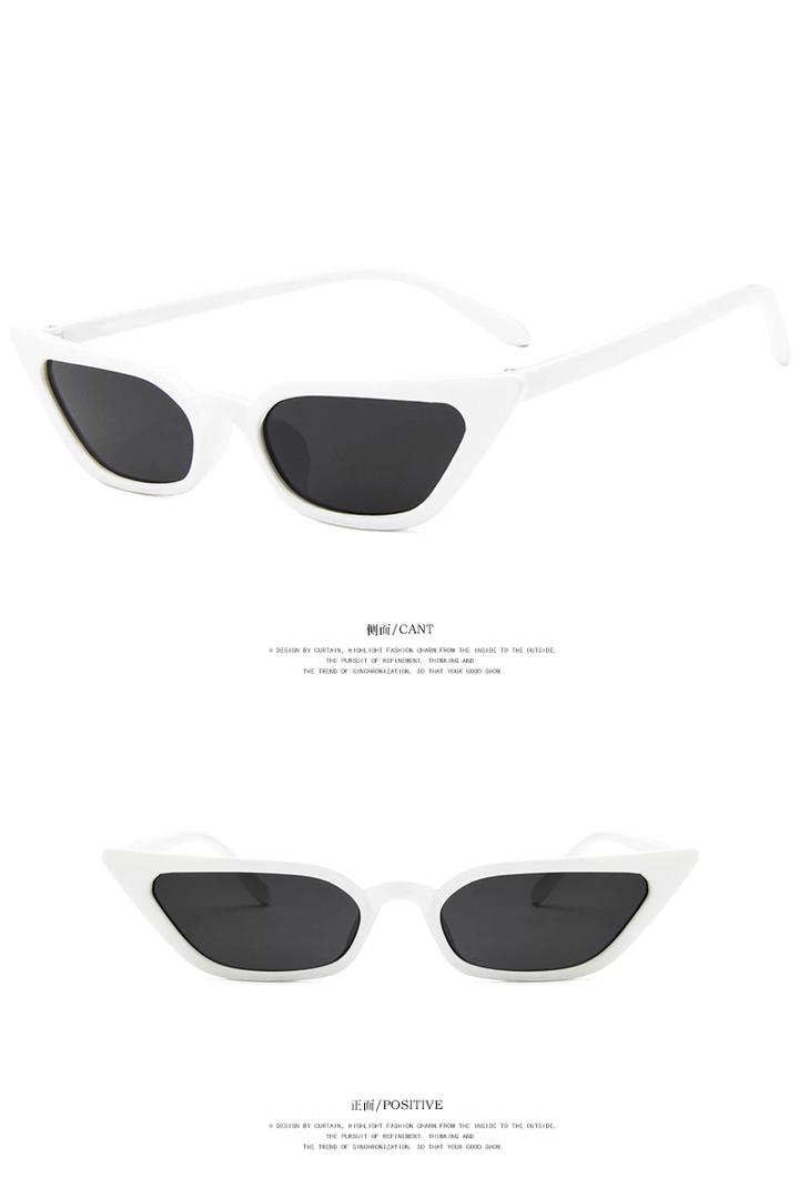 10da11575d2 New Women Small Cat Eye Sunglasses 2018 Vintage Fashion Brand Designer  Square Sun Glasses UV400 white