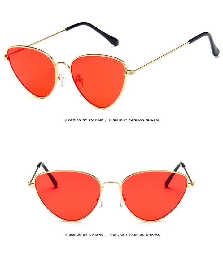 0c3b42a41db3 Superhot Fashion Cat Eye Sunglasses Women Brand Designer Sun glasses for women  Lenses UV400 gold+