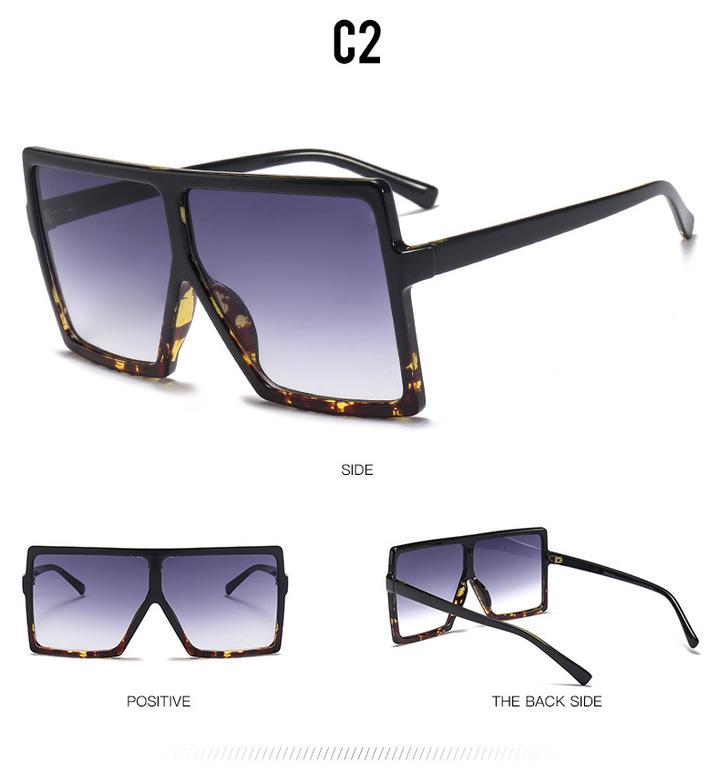 da9b6ba6ec96 2018 Sexy Oversized Aviator Sunglasses Women Shades Retro Brand Designer  Sun Glasses leopard+grey one