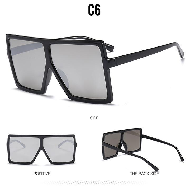 9fd351e7efb8 2018 Sexy Oversized Aviator Sunglasses Women Shades Retro Brand Designer  Sun Glasses black+silver one