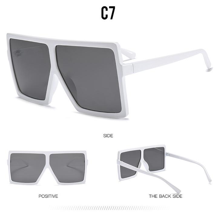 51b3423c667b 2018 Sexy Oversized Aviator Sunglasses Women Shades Retro Brand Designer  Sun Glasses white+grey one