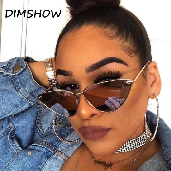 e260ff2ea529 2018 Retro Sunglasses Women Cat Eye Sun Glasses Brand Designer Vintage  Shades Sexy Clear Glasses gold