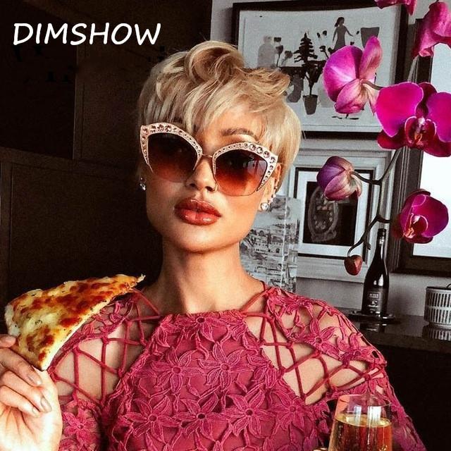 946fa2776ce New 2018 Fashion Brand Cat Eye Sunglasses Woman Shades Mirror Female  Rhinestone Coating Gafas UV400 orange
