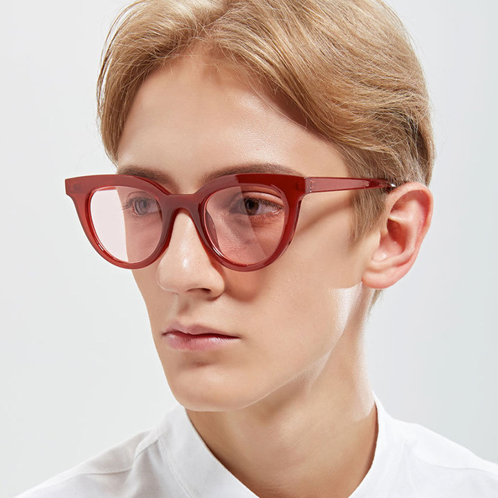 bab17579471 2018 New Cat Eye Women Sunglasses Tinted Color Lens Men Vintage Shaped Sun  Glasses Brand Designer