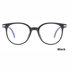 2018 Fashion Women Glasses Men Eyeglasses Vintage Round Clear Lens Glasses Optical Spectacle Frame black one size