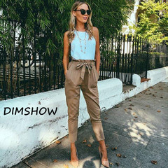 High Waist Harem Pants Women  Spring Autumn Style Casual Pants 2018 New Straight Trousers khaki s
