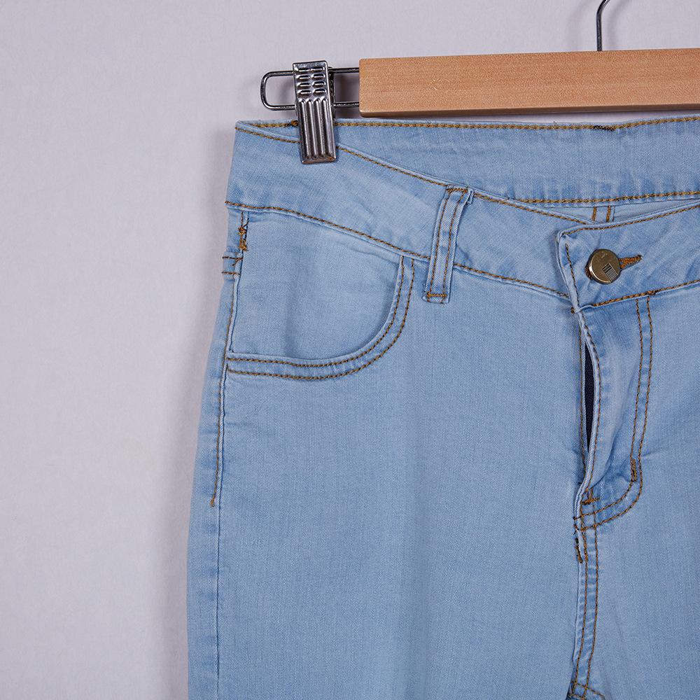 Kilimall Dimshow Women Sexy Skinny Ripped Holes Blue Jeans 2017 New Azure Fashion Star Pants Legging Celana Panjang Item Typejeans