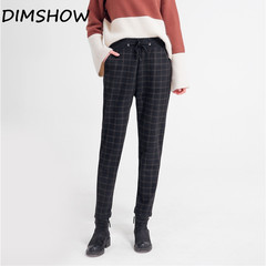 2018 New Arrival England Style Women Pants Spring Autumn Casual Elastic waist trousers women pants black m