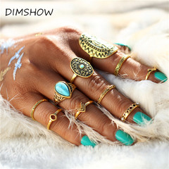 Midi Ring Sets 2017 Vintage Unicorn Steampunk Knuckle Rings for Women Man Boho Jewelry 10PCS/Set gold one size