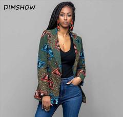 2018 African Tradition Retro ethnic African dashiki fashion jacket African print jacket green s