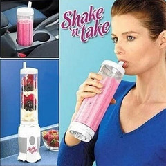 Glantop Shake N Take Juice Machine Multifunctional Mini Electricity Juicer Pocket  Bottle Blender white