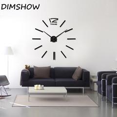 3D Quartz Clock Large Silent Acrylic Wall Clocks  for Living Room Home Decor Wall Watch 100*100CM black 1.1*1.1M