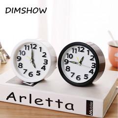 Mini Cute Portable Alarm Clocks Battery Bedside Desk Table Home Decor Kid Gifts white circular