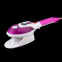 Ceramic Soleplate Multifunction Electric Steam Iron For Home Portable  Garment Steamer Lint Remover purple
