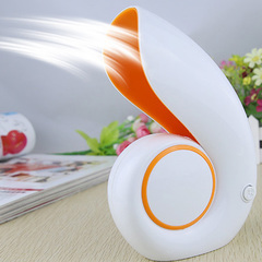 Hot USB Office Portable Handheld Mini Air Conditioner Bladeless Fan Desktop Shell No Leaf Air Fan yellow