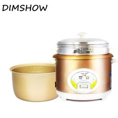 Electric Mini Rice Cooker 1.5L/2L/3L/4L/5L 220-240V Input Stew Soup Heating Lunch Kitchen Cooker gold 1.5l