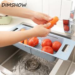 Vegetable Fruit Washing Racks Wheat Straw Sink Bowl Plate Draining Rack green 48*18.5cm