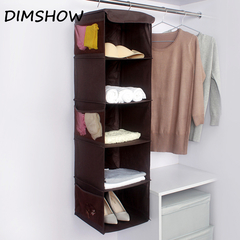 Household Layered Hanging Organizers Clothing Wardrobe Storage Bag Shoes Underwear Pouch Accessories coffee