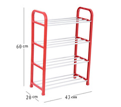 New 4 Tier Plastic Shoes Rack Organizer Stand Shelf Holder Unit Black Light Shoe Storage red