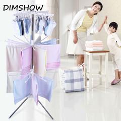 Simple drying racks Floor folding mobile towel sock rack hanger Balcony hangers Indoor clothes racks white