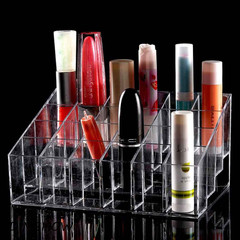 24 Lipstick Holder Display Stand Clear Acrylic Cosmetic Organizer Makeup Case Sundry Storage makeup transparent