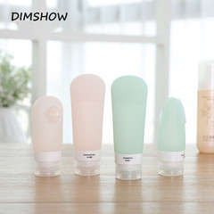 New Silicone Cosmetic Cream Lotion Travel Portable Refillable Bottle Shampoo  Cleaner Makeup Tools white 60ml