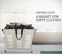 Dirty Clothes Basket Storage Laundry Basket Home office Storage Basket light grey