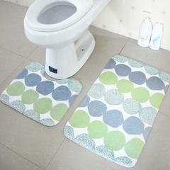 2Pcs/Set Bathroom anti-skid Carpet 45x75cm rectangular and 45x37cm U-shaped mats Bathroom Toilet Mat 2 45*37+45*75cm
