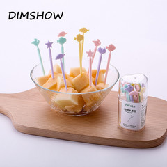 50pcs/lot Plastic Disposable Forks Stick Fruit Forks Arrow Dessert  Food Picks Kitchen Accessories random color 8cm