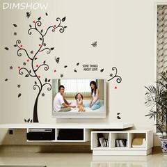Happy photo frame 3D wall stickers removable PVC film 3D DIY Wallpaper Living room bedroom decor black 100*120cm