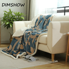 Warm Soft Fleece Blankets Double Layer Thick Plush Throw on Sofa Bed Plane Plaids Solid Bedspreads as picture 150*200 size