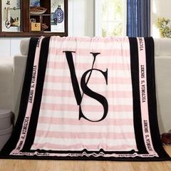 Victoria's Secret Coral Fleece Blankets For Beds Sofa Plane Travel Plaids Knitted Blanket 130X150cm white 130*150cm
