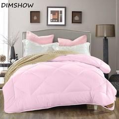 100% cotton Winter Quilt/Comforter/Duvet Cover Twin Double Queen King pink 150cmx200cm 2000g