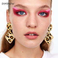Leopard Print  Earring for Woman New Vintage Circle Earrings Fashion Jewelry Statement Accessories brown 4.3*7.2cm