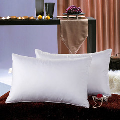 Duck Down Pillow white color Down-proof Cotton bed pillows bedding neck protect white 48*74cm