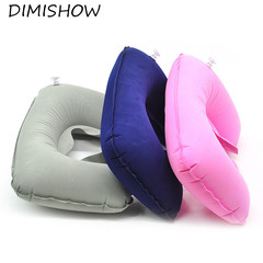 Inflatable U Shaped Travel Pillow Neck Car Head Rest Air Cushion for Travel Office Nap Neck Pillow random color 26.5*44cm