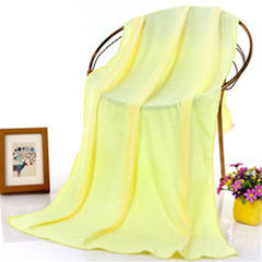 70 x 140 cm Bamboo Fiber Bath Towel Super Absorbant Home Textile Large Thick Towel yellow 140*70cm