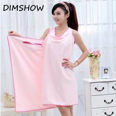 Bath Towels Fashion Lady Girls Wearable Fast Drying Magic Bath Towel Beach Spa Bathrobes Bath Skirt pink 150*80cm