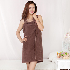 Bath Towels Fashion Lady Girls Wearable Fast Drying Magic Bath Towel Beach Spa Bathrobes Bath Skirt coffee 150*80cm