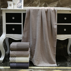 4 Colors 70*140Cm 100% Cotton bath towel Towel Hotel Travel Sports Swiming Bath Body Beach Towel light grey 70*140cm