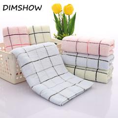 1 Piece 33*74cm Cotton Terry Cloth Face Towels Elegant Plaid Pattern Bathroom Hand Towels random color 32*74cm