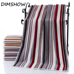 New Cotton Jacquard Sheared Bath Towel 70x140cm Colorful Striped Yarn Dyed  Absorbent Beach Towel wine red 70*140cm
