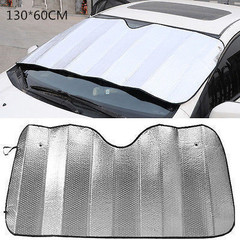 Car Window Sunshade Cover Sunshade of Car Automobile Sunshade Protect Car Window Film Sunscreen silver 60*130cm