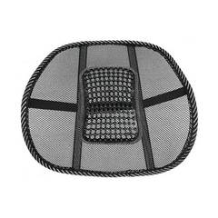Comfortable Mesh Chair Relief Lumbar Back Pain Support Car Cushion Office Seat Chair Lumbar Cushion black 39*41cm