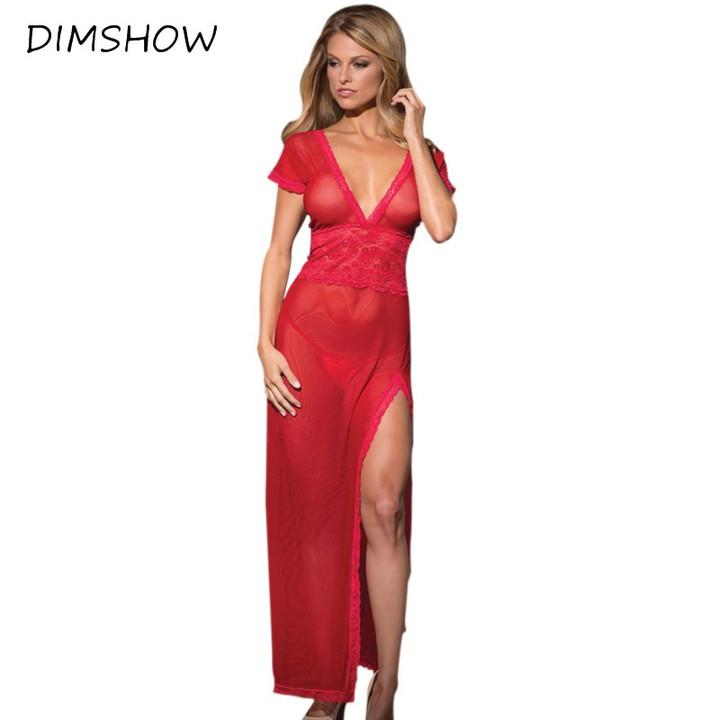 a15f5ff8834 Women Sexy Lace G-string Briefs Dress Set Nightwear See Through ...