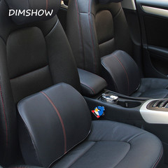 Ergonomic Car Seat Waist Cushion Automobile Memory Foam  Pad Relief Lumbar Back Pain Chair Support black 38*28*8cm