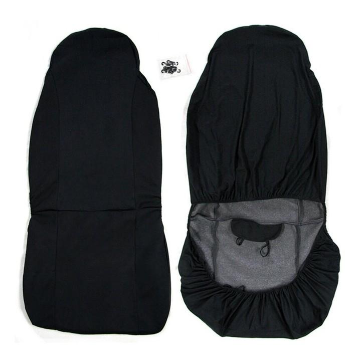 10Pcs Universal Car Seat Cover Set Kits Mesh Sponge Headrest  Protector Car Styling For 4 Seasons black 135*76cm
