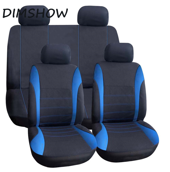 9 Set Full Seat Covers for Car Crossovers High Quality Universal Protect  Auto Interior blue 135*76cm