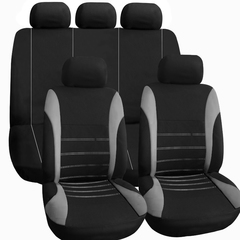 9 Set Full Seat Covers for Car Crossovers High Quality Universal Protect  Auto Interior grey 135*76cm