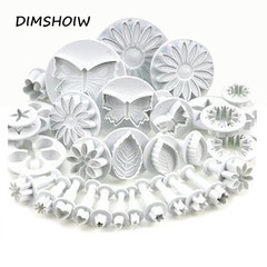 33pcs/set Sugarcraft Cake Decorating Tools Fondant Plunger Cutters Cake Tools Cookie as picture set